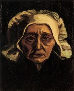 Head of an Old Peasant Woman with White Cap