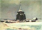 The Old Cemetery Tower at Nuenen in the Snow