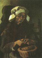 Peasant Woman Peeling Potatoes