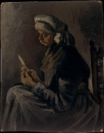 Peasant Woman, Peeling Potatoes