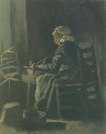 Woman Winding Yarn