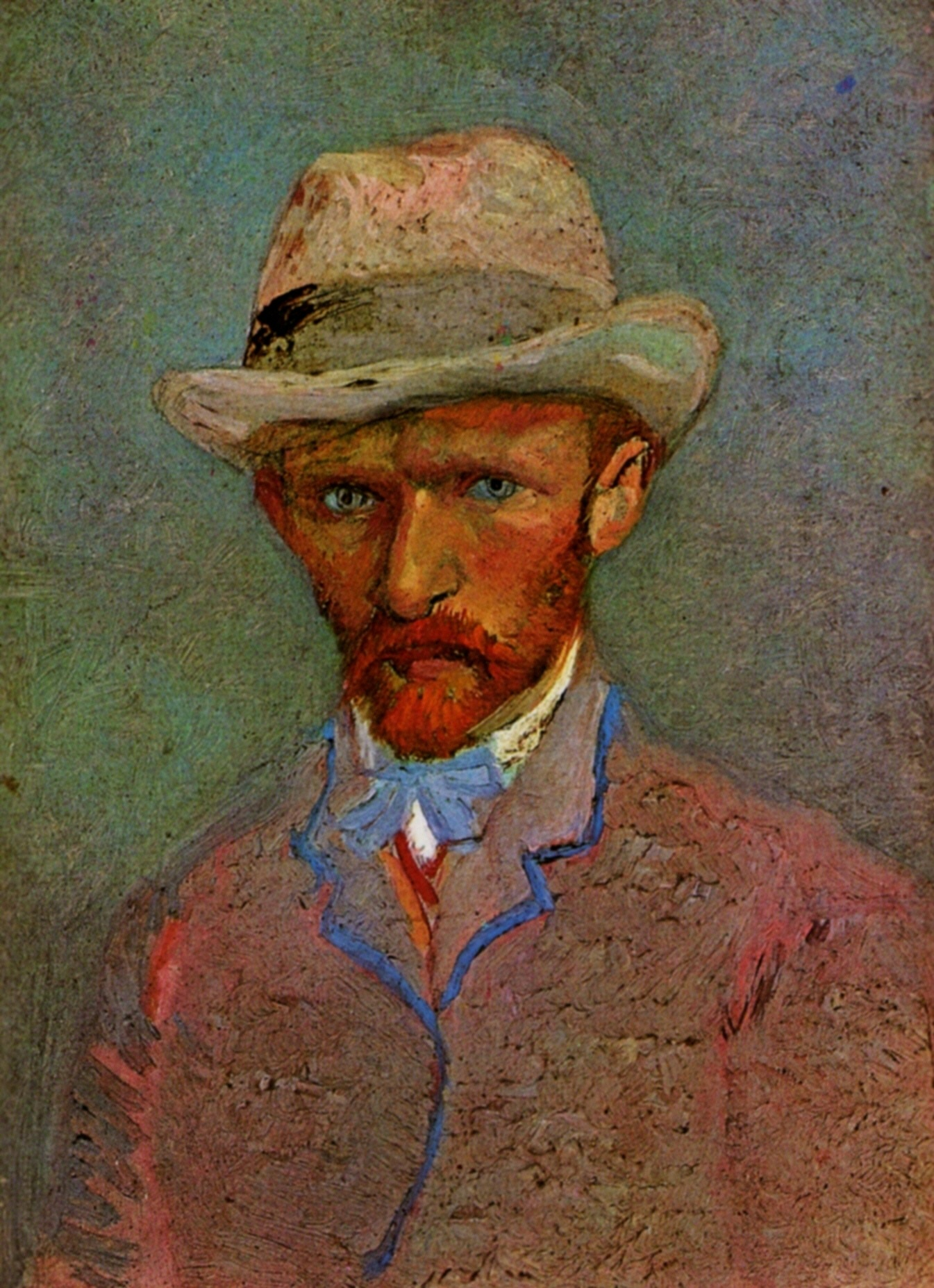 Self-Portrait with Grey Felt Hats 1887