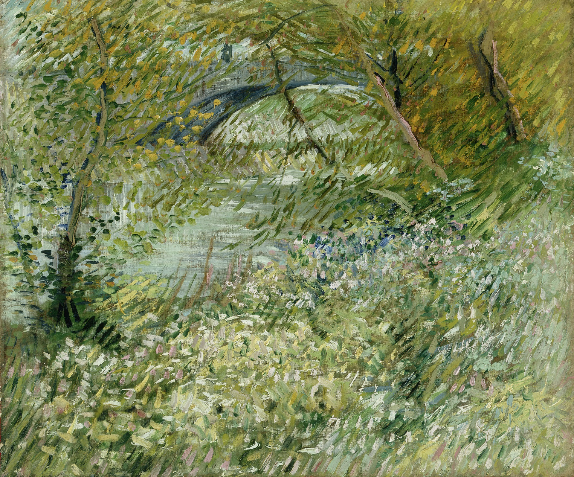 Banks of the Seine with Pont de Clichy in the Spring 1887