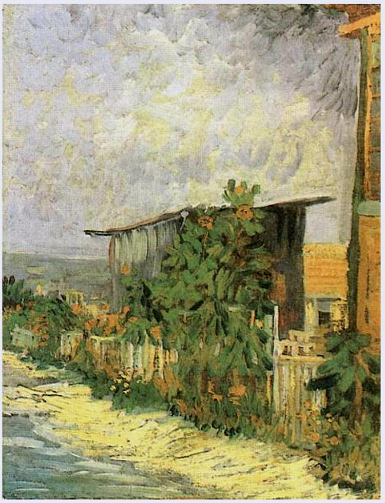 Montmartre Path with Sunflowers 1887