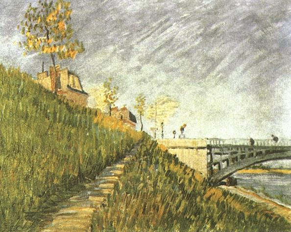 Banks of the Seine with Pont de Clichy 1887