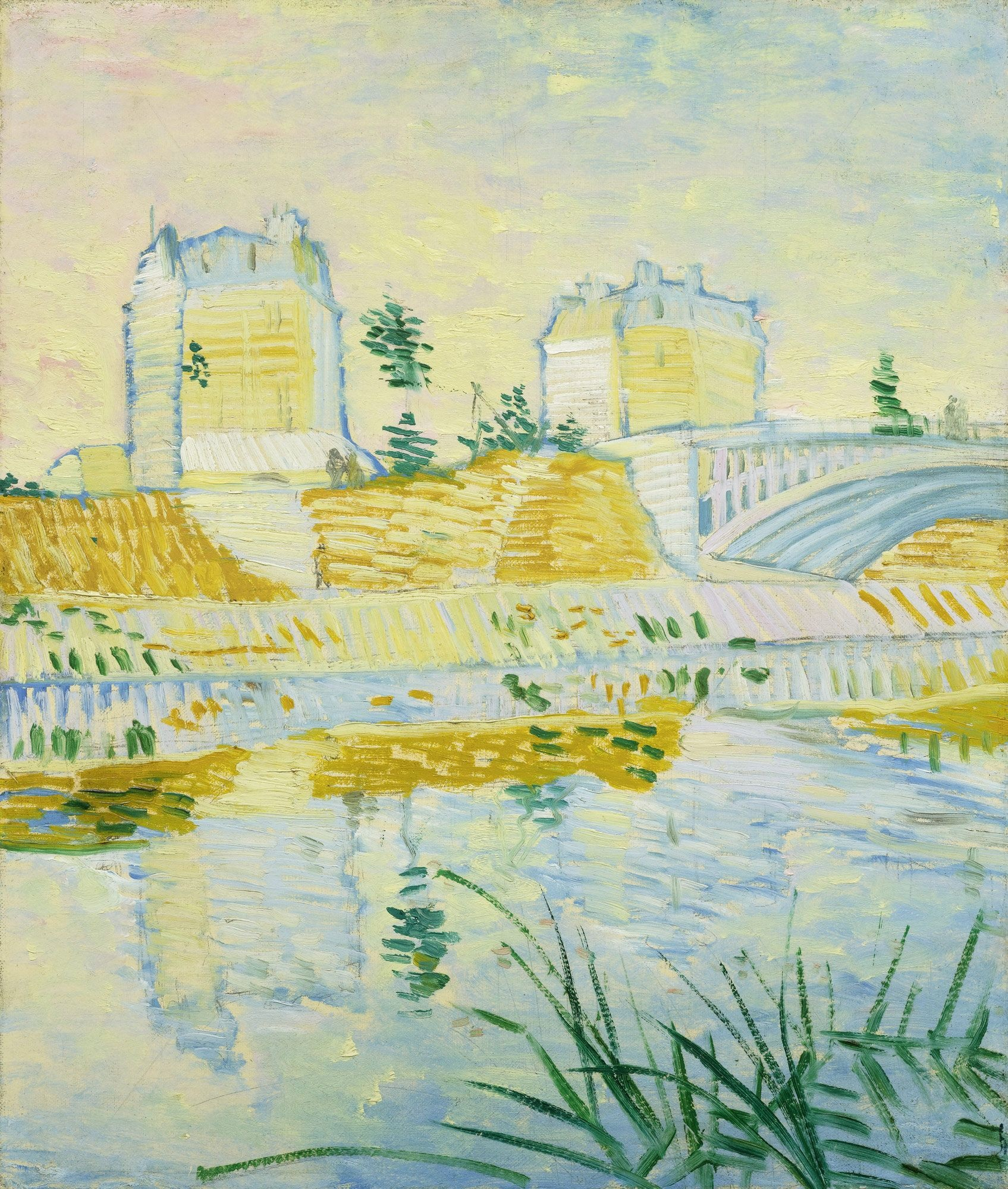 The Seine with the Pont de Clichy  1887