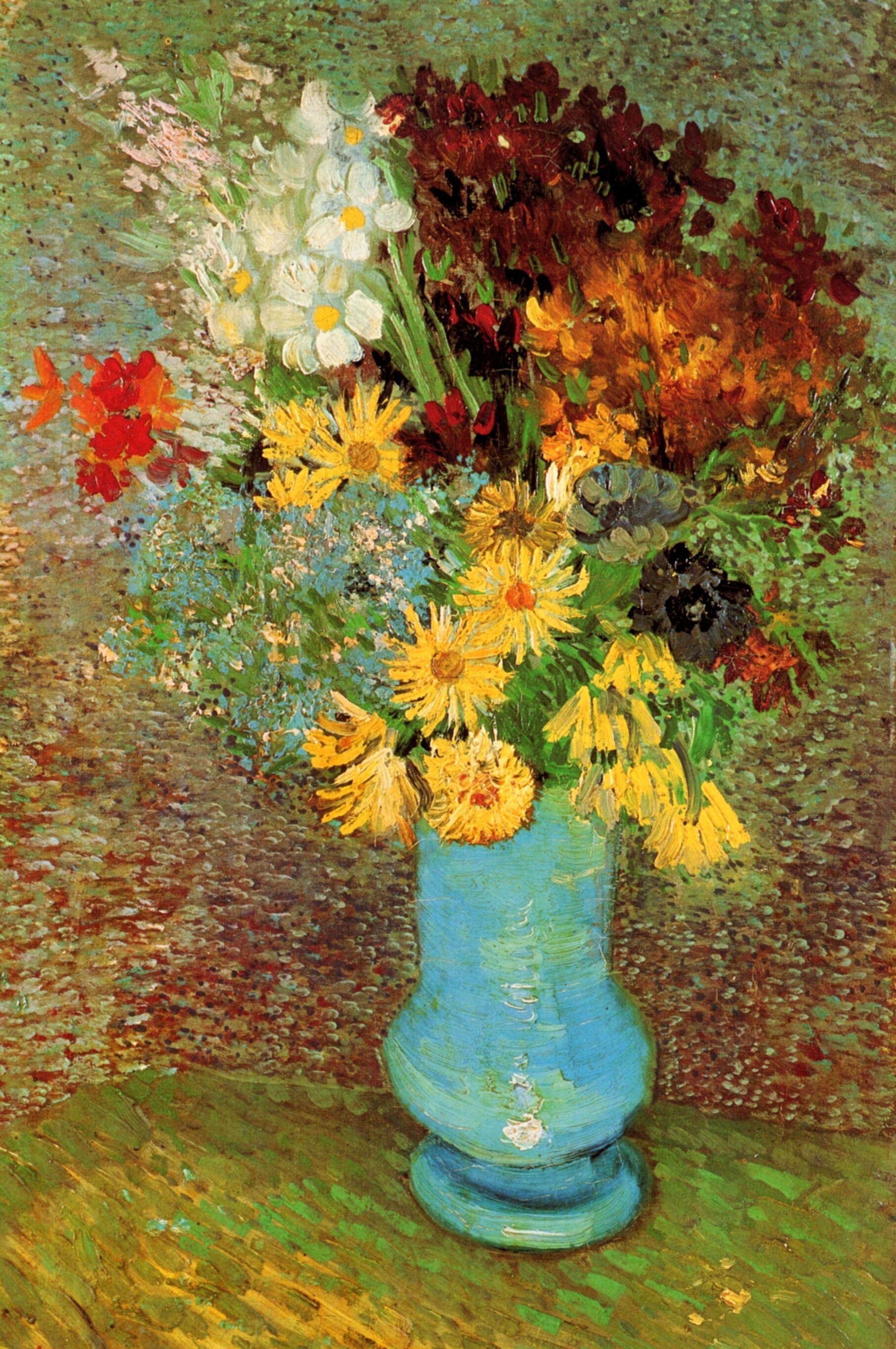 Vase with Daisies and Anemones 1887