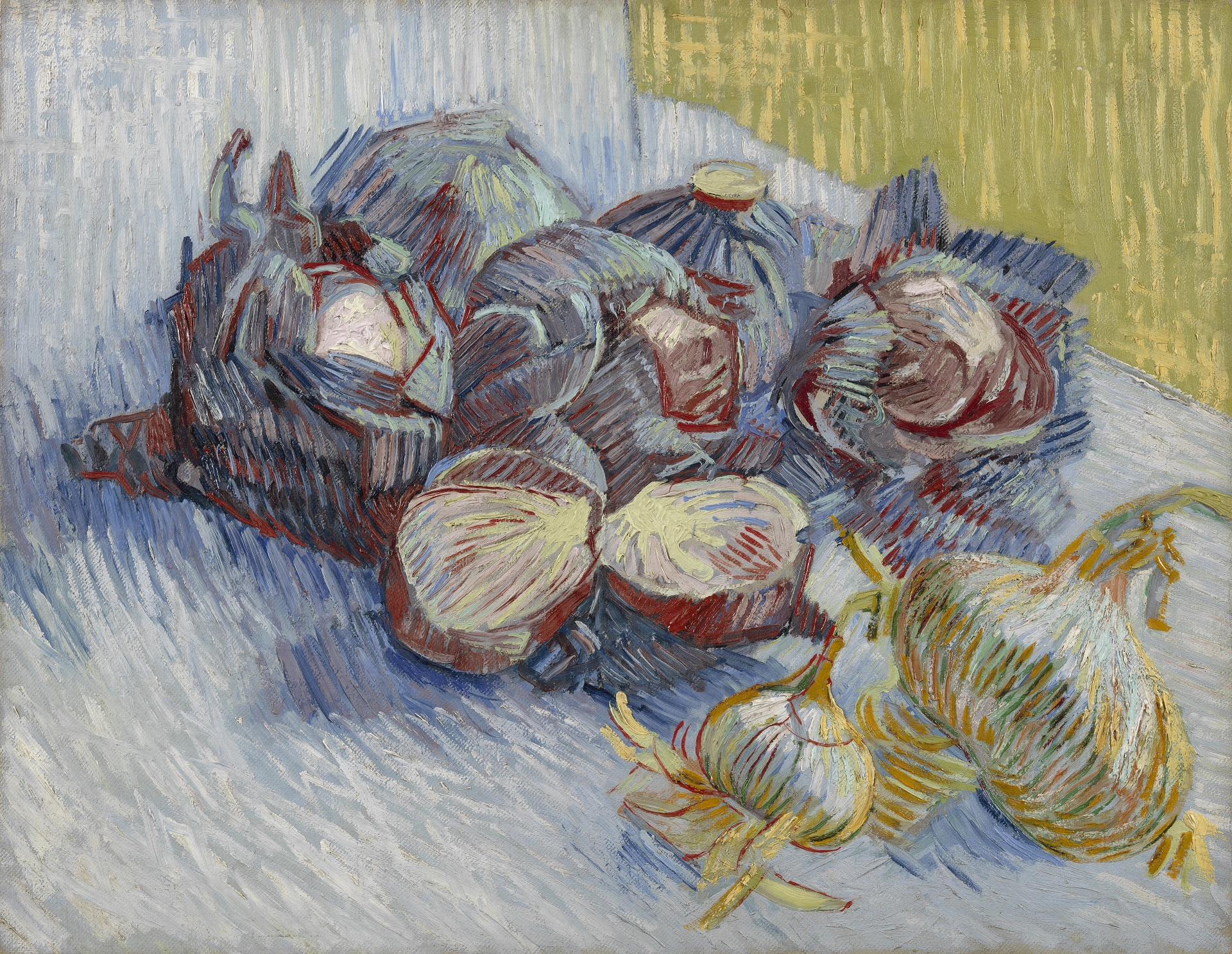 Still Life with Red Cabbages and Onions 1887