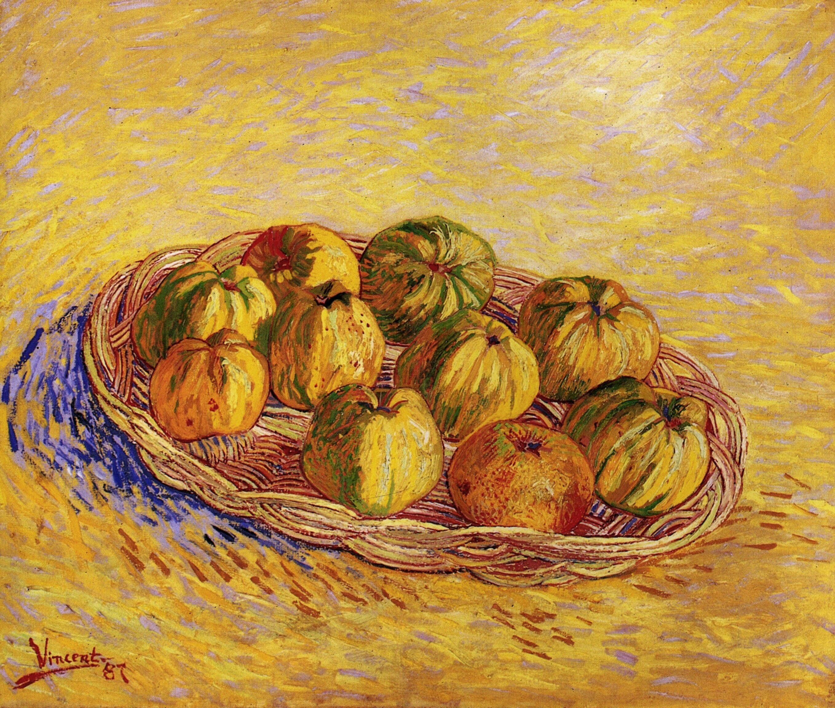 Still Life with Basket of Apples 1887-1888