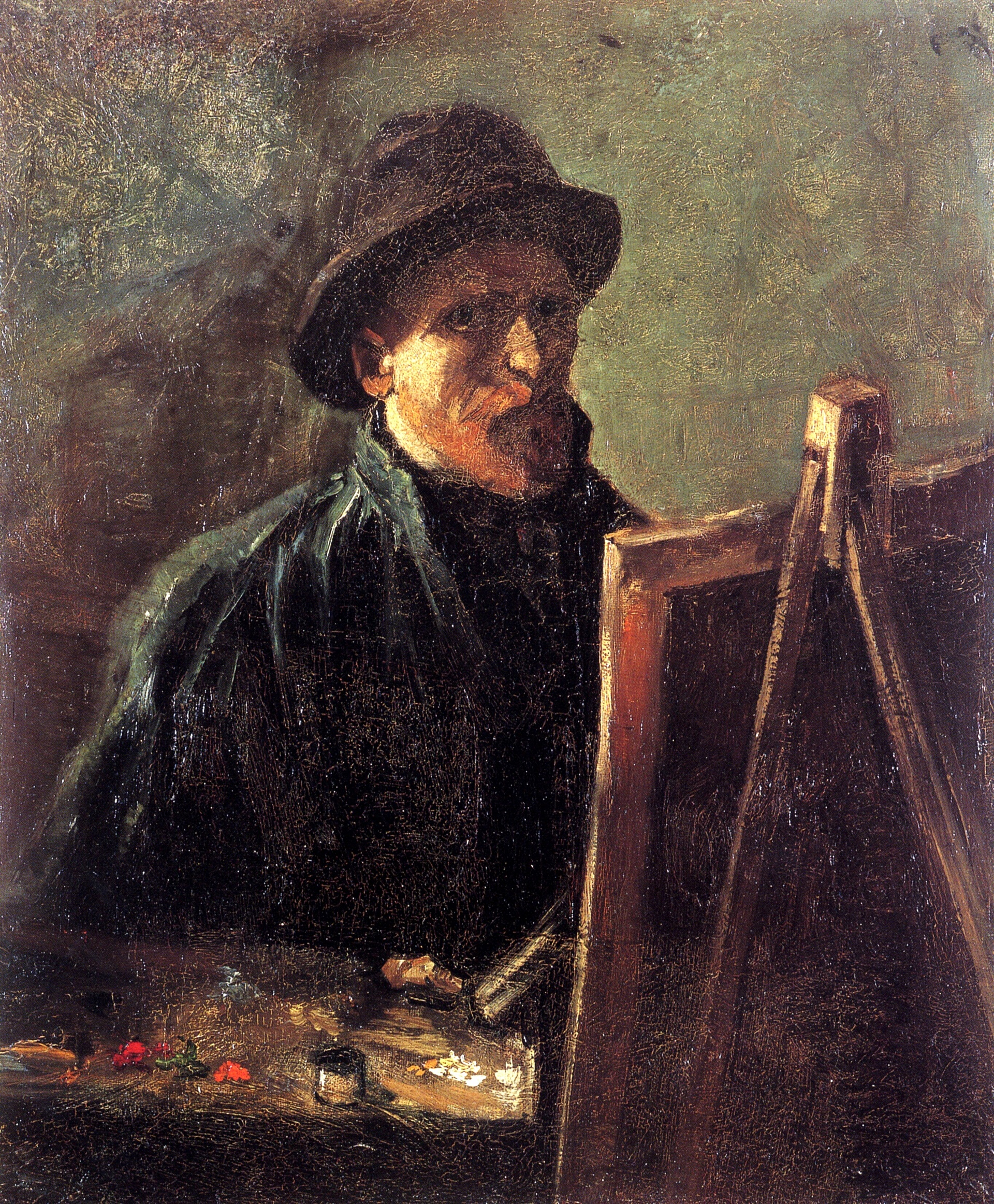 Self-Portrait with Dark Felt Hat at the Easel 1886