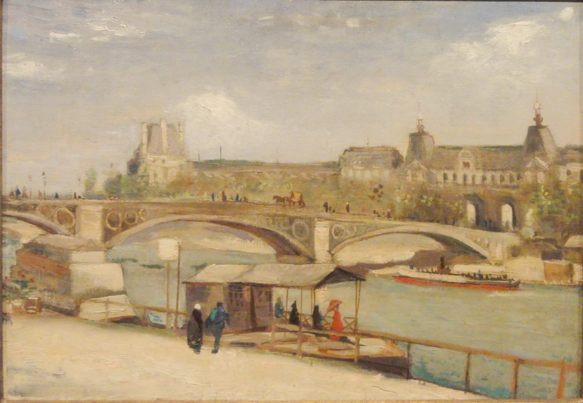 The Pont du Carrousel and the Louvre 1886