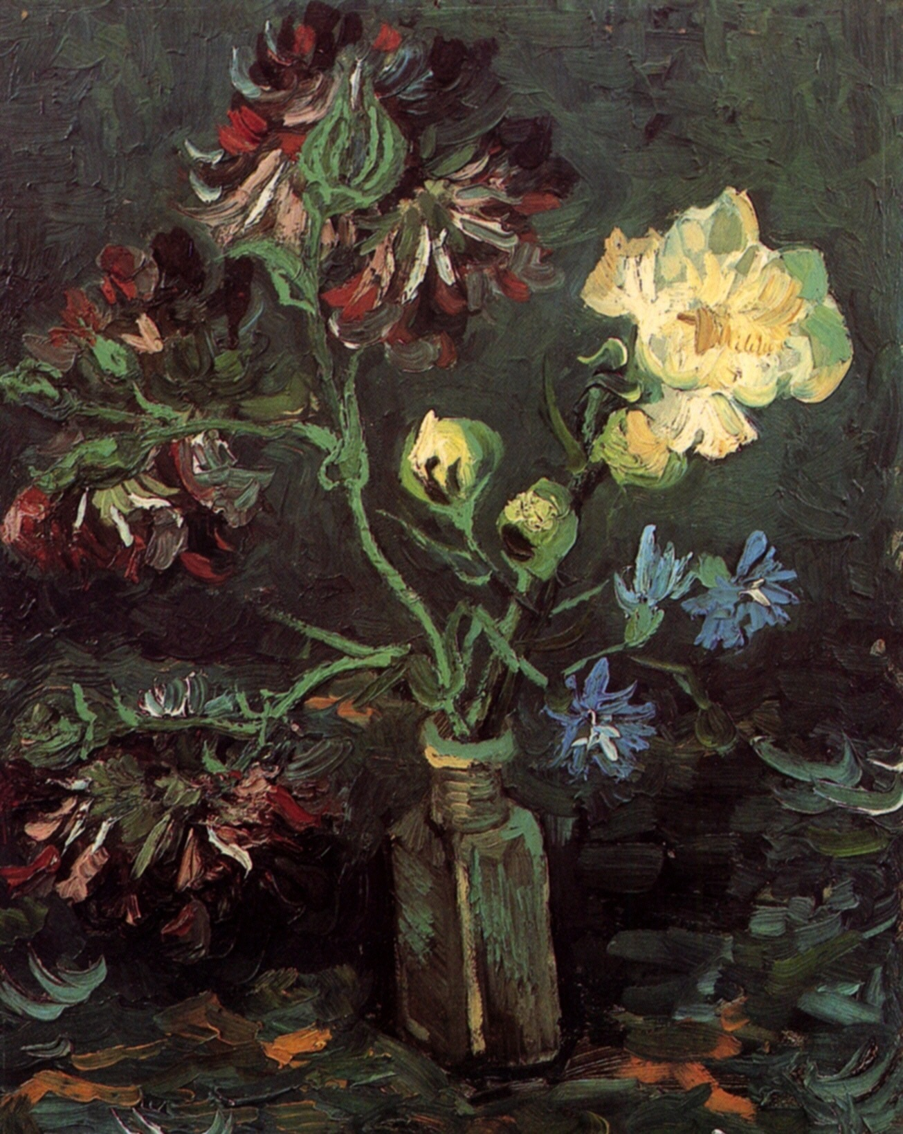 Vase with Myosotis and Peonies 1886