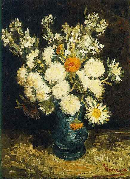 Flowers in a Blue Vase 1886