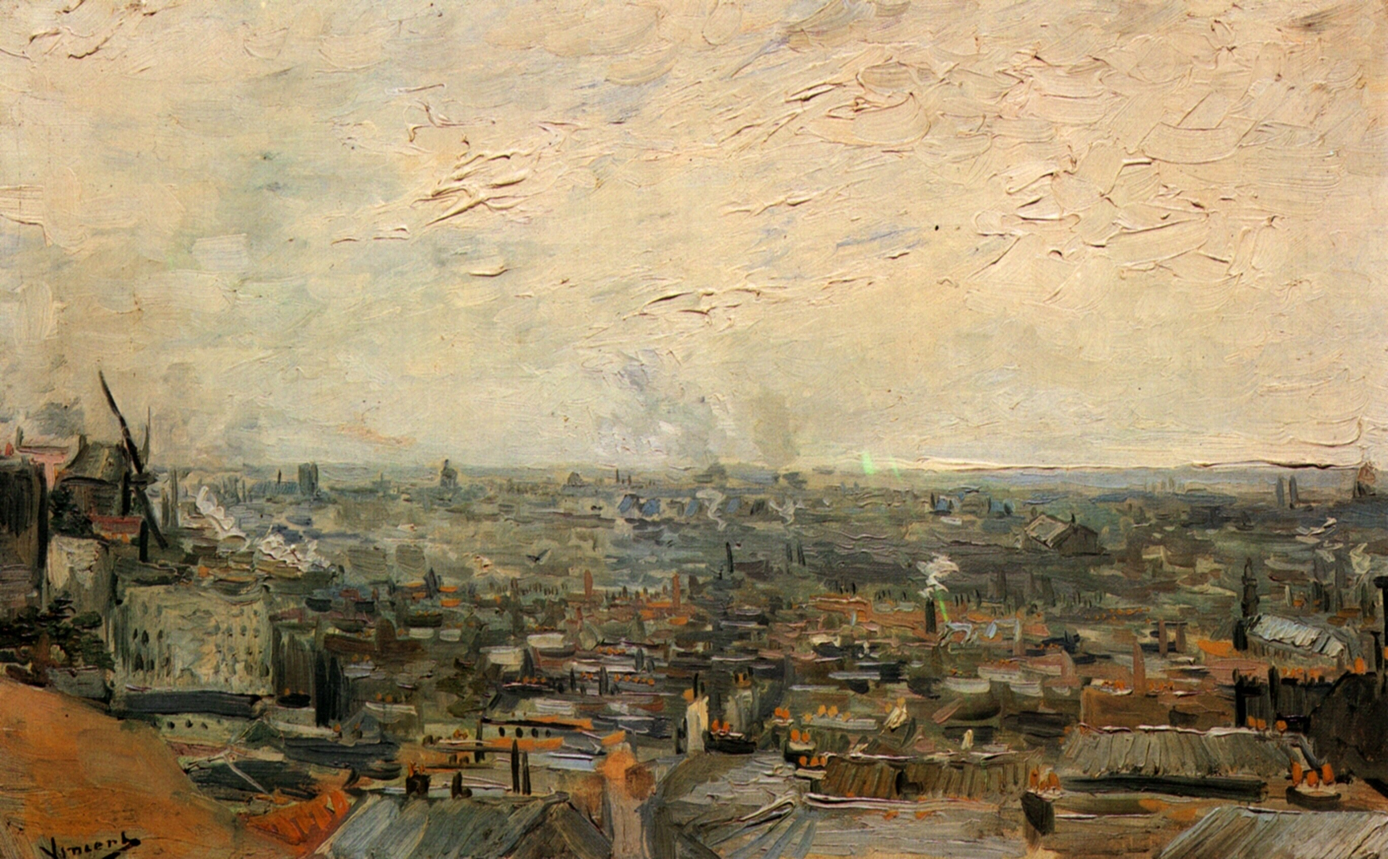 View of Paris from Montmartre 1886
