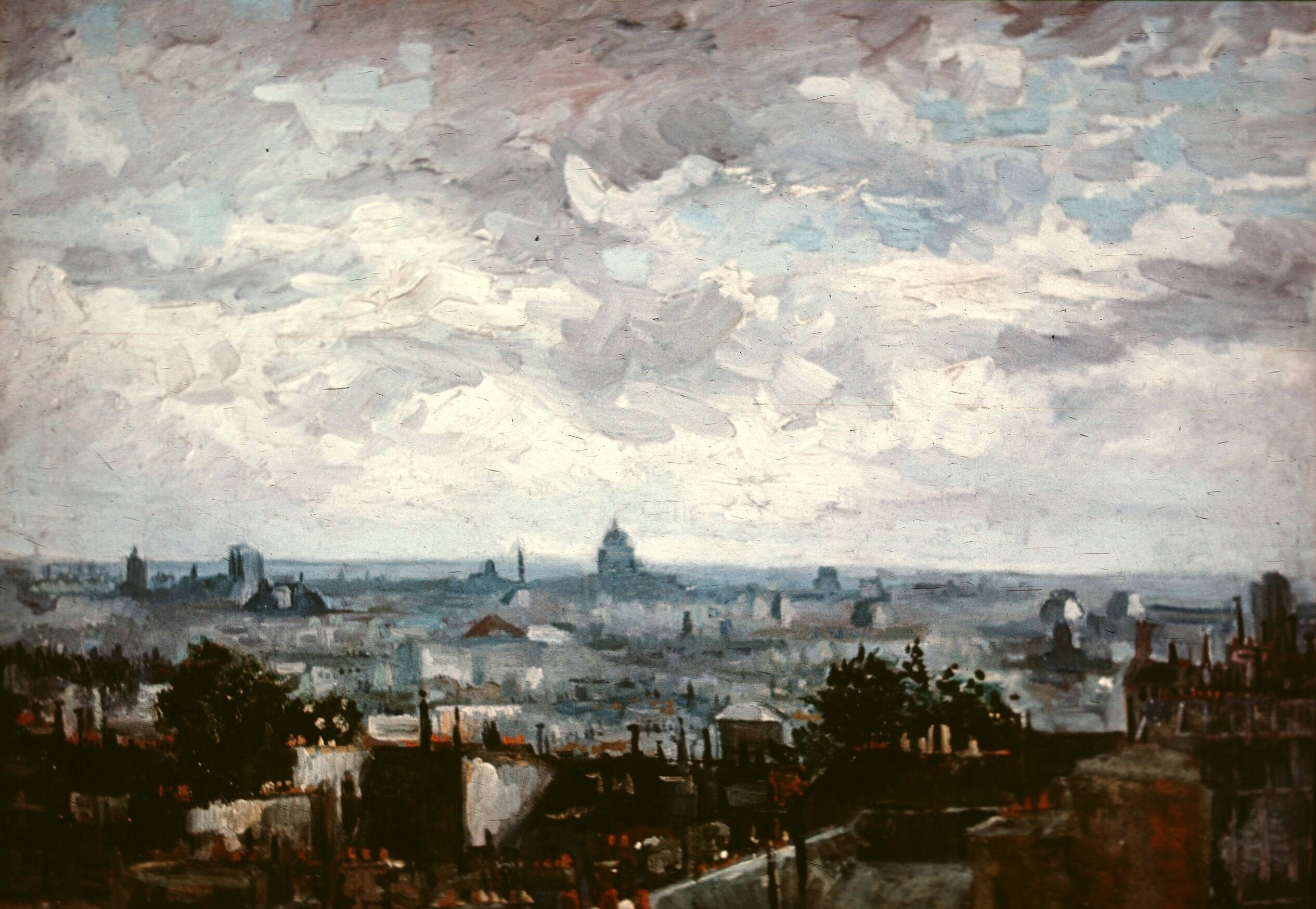 View of the Roofs of Paris 1886