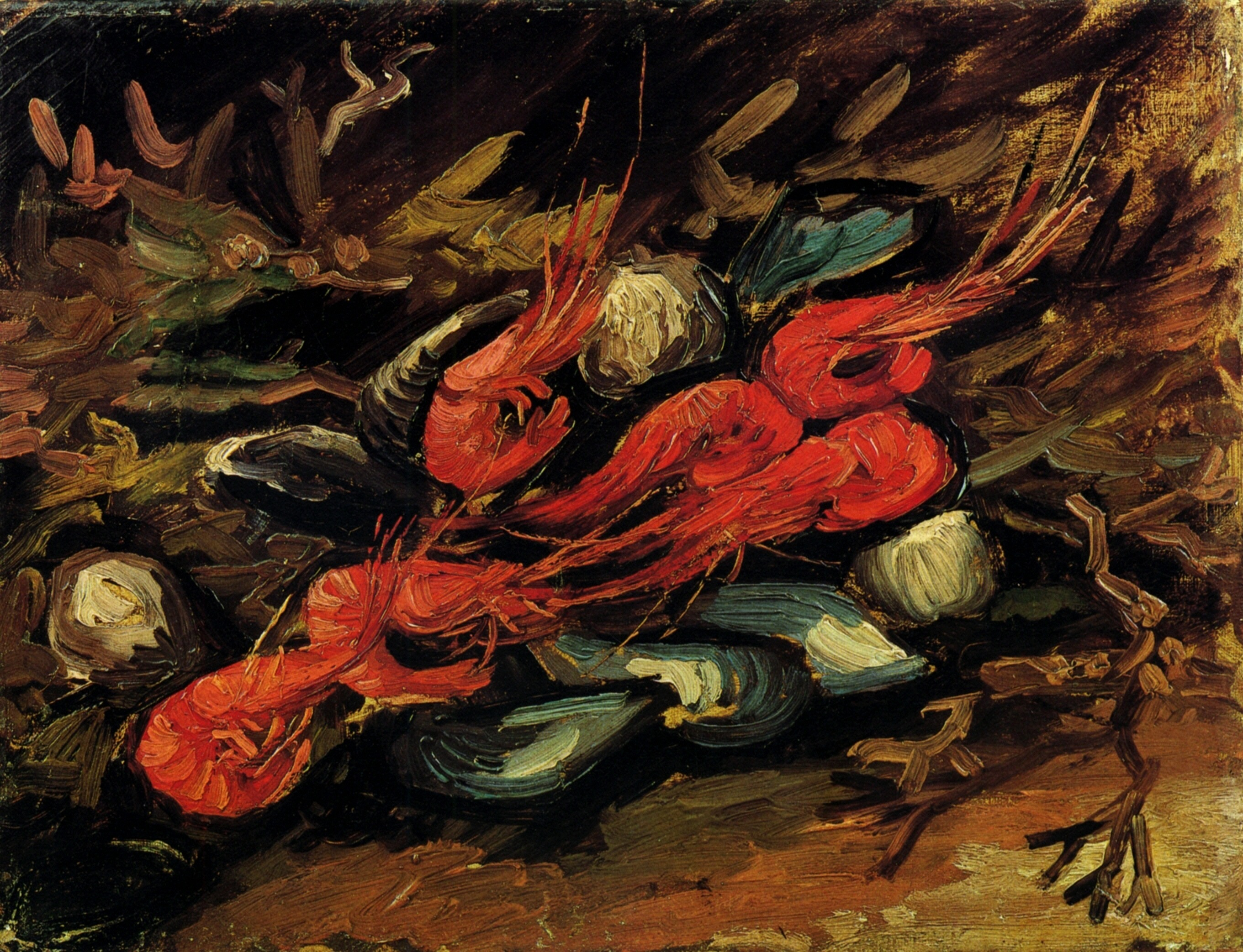 Still Life with Mussels and Shrimps 1886