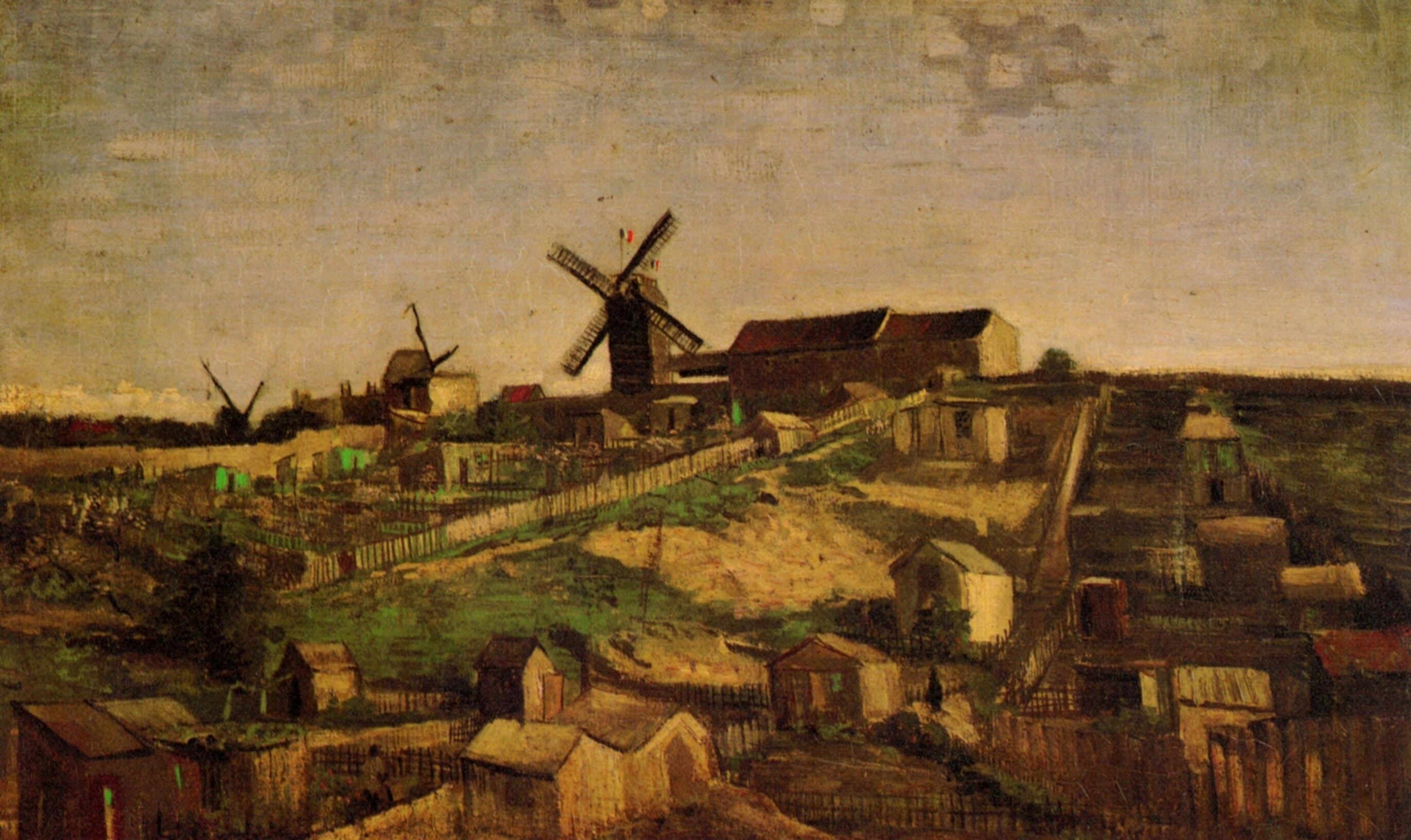 View of Montmartre with Windmills 1886