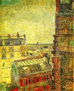 View of Paris from Vincent s Room in the Rue Lepic