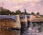 The Seine with the Pont de la Grande Jette