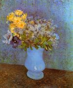 Vase with Lilacs, Daisies and Anemones