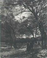 The Bois de Boulogne with People Walking