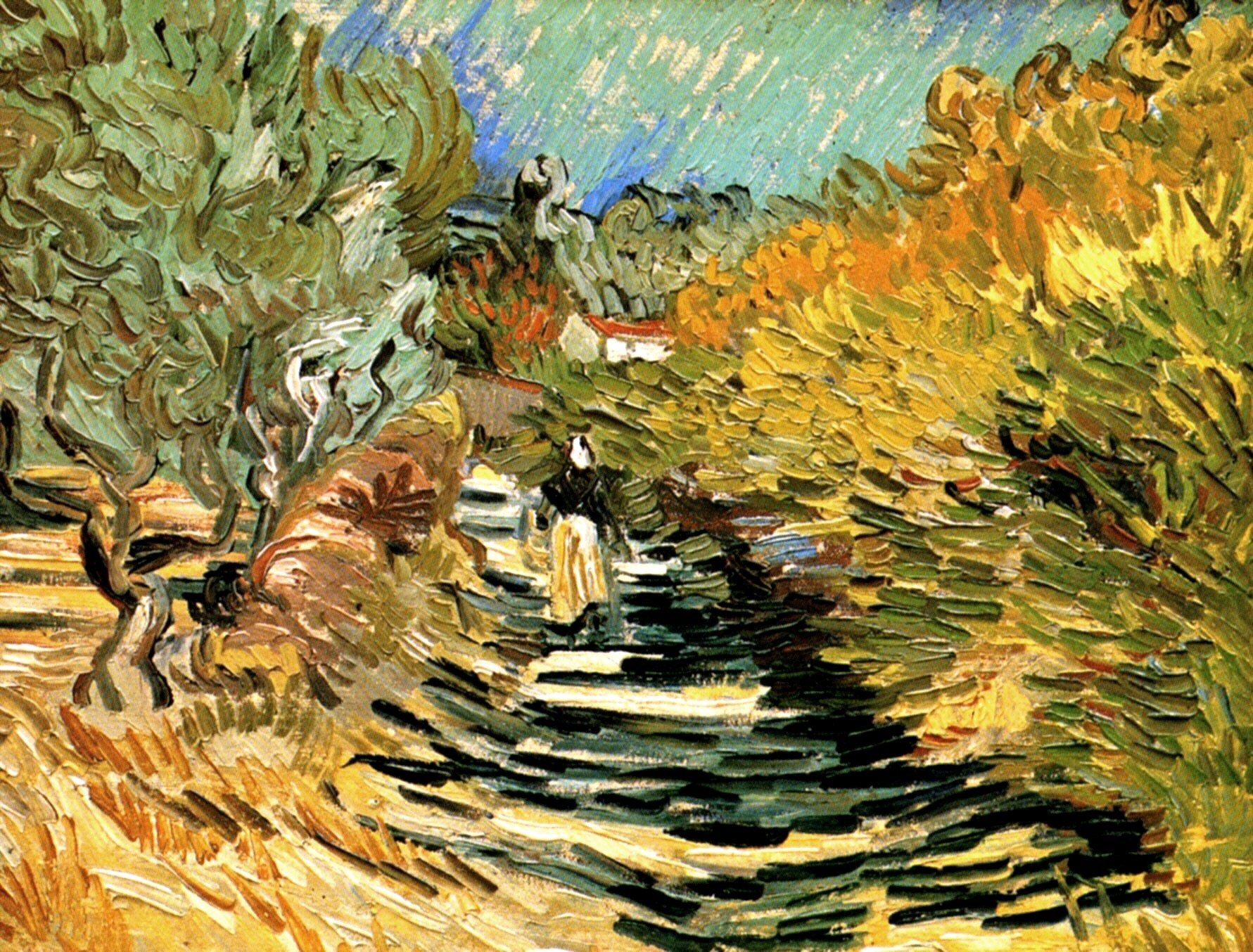 A Road at Saint-Remy with Female Figure 1889