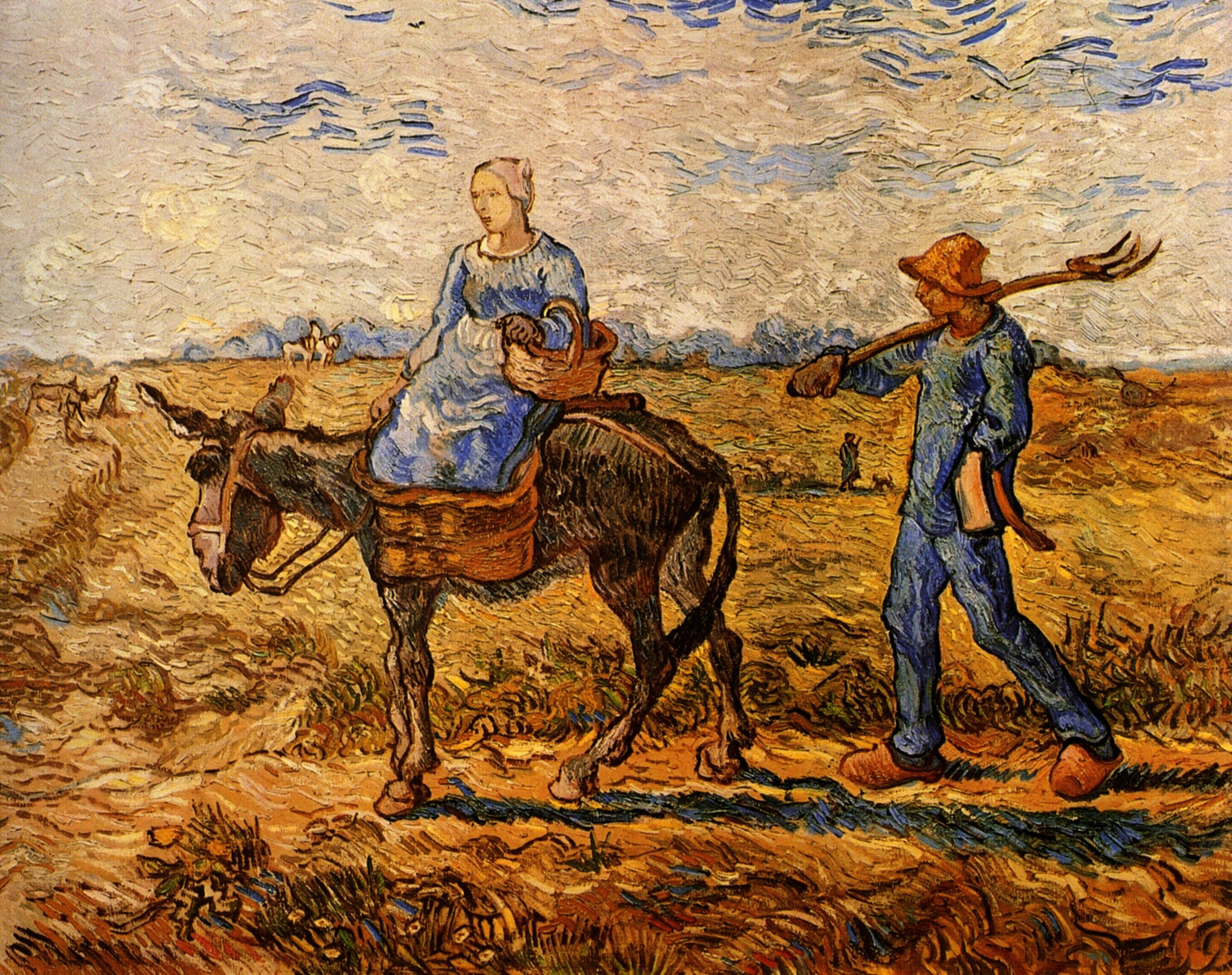 Morning: Peasant Couple Going to Work after Jean-Francois Millet 1890