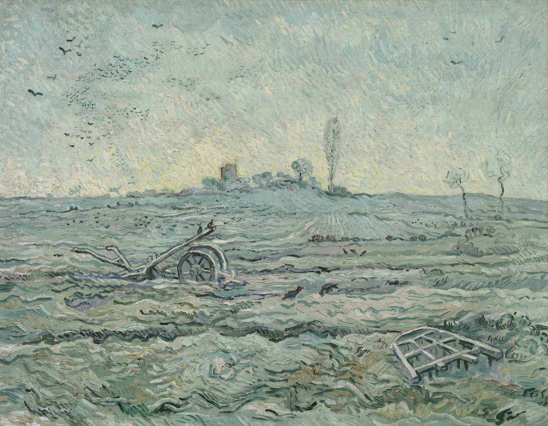 The Plough and the Harrow after Jean-Francois Millet 1890