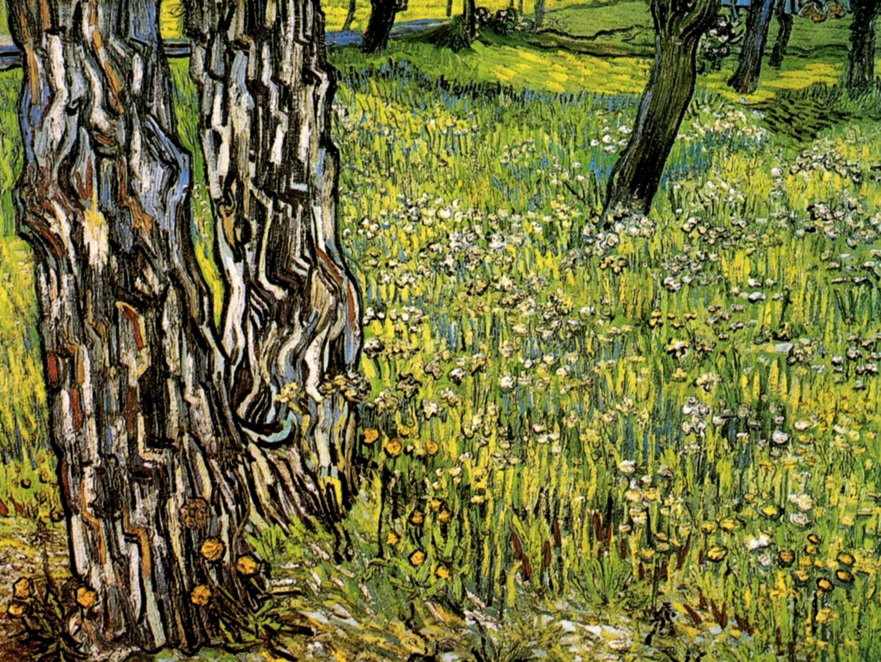Pine Trees and Dandelions in the Garden of Saint-Paul Hospital 1890