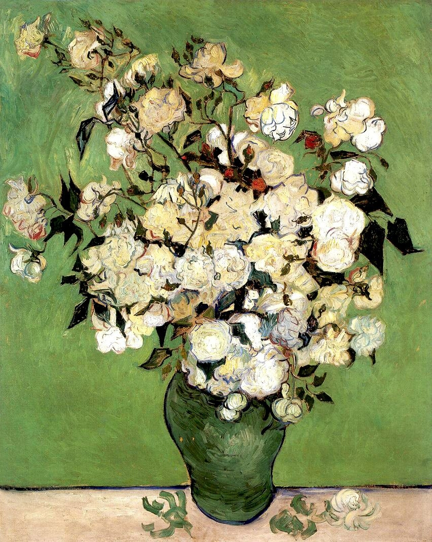 Van gogh still life pink roses in a vase 1890 and the letters still life pink roses in a vase 1890 reviewsmspy