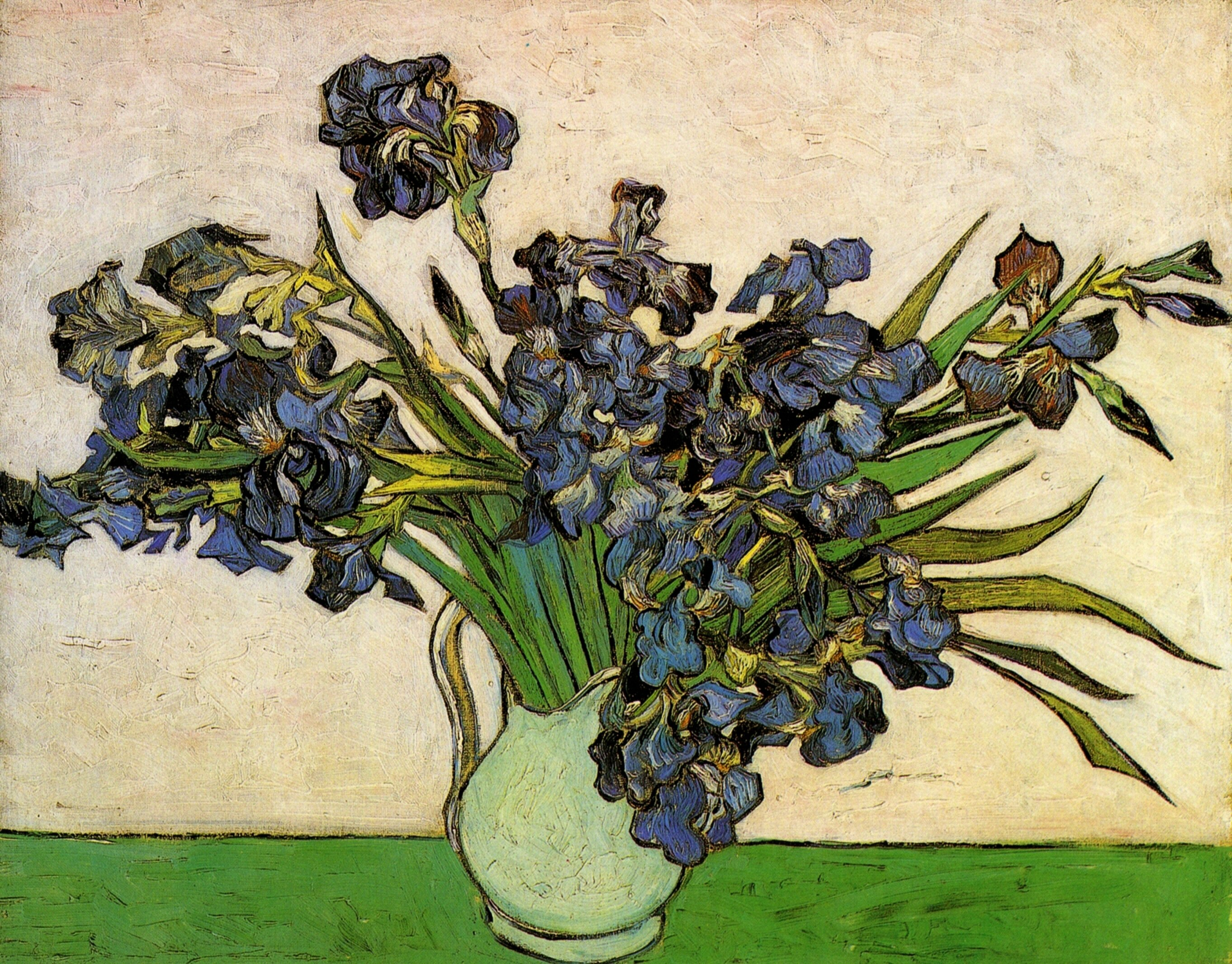 Still Life: Vase with Irises 1890