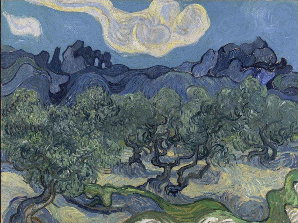 Olive Trees with the Alpilles in the Background 1889