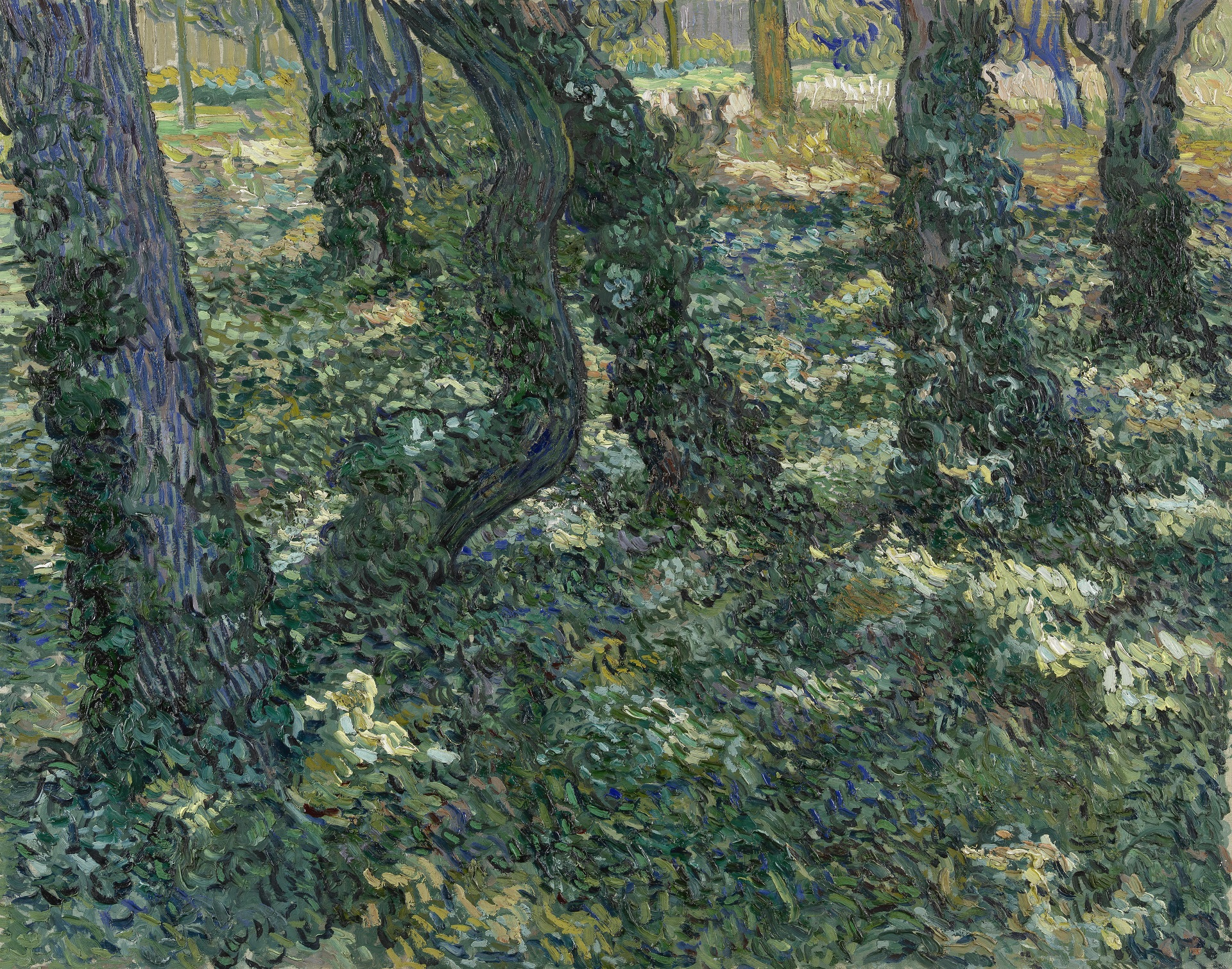 Tree Trunks with Ivy 1889