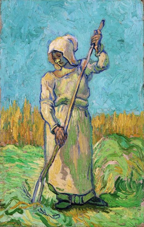 Peasant Woman with a Rake, after Millet 1889