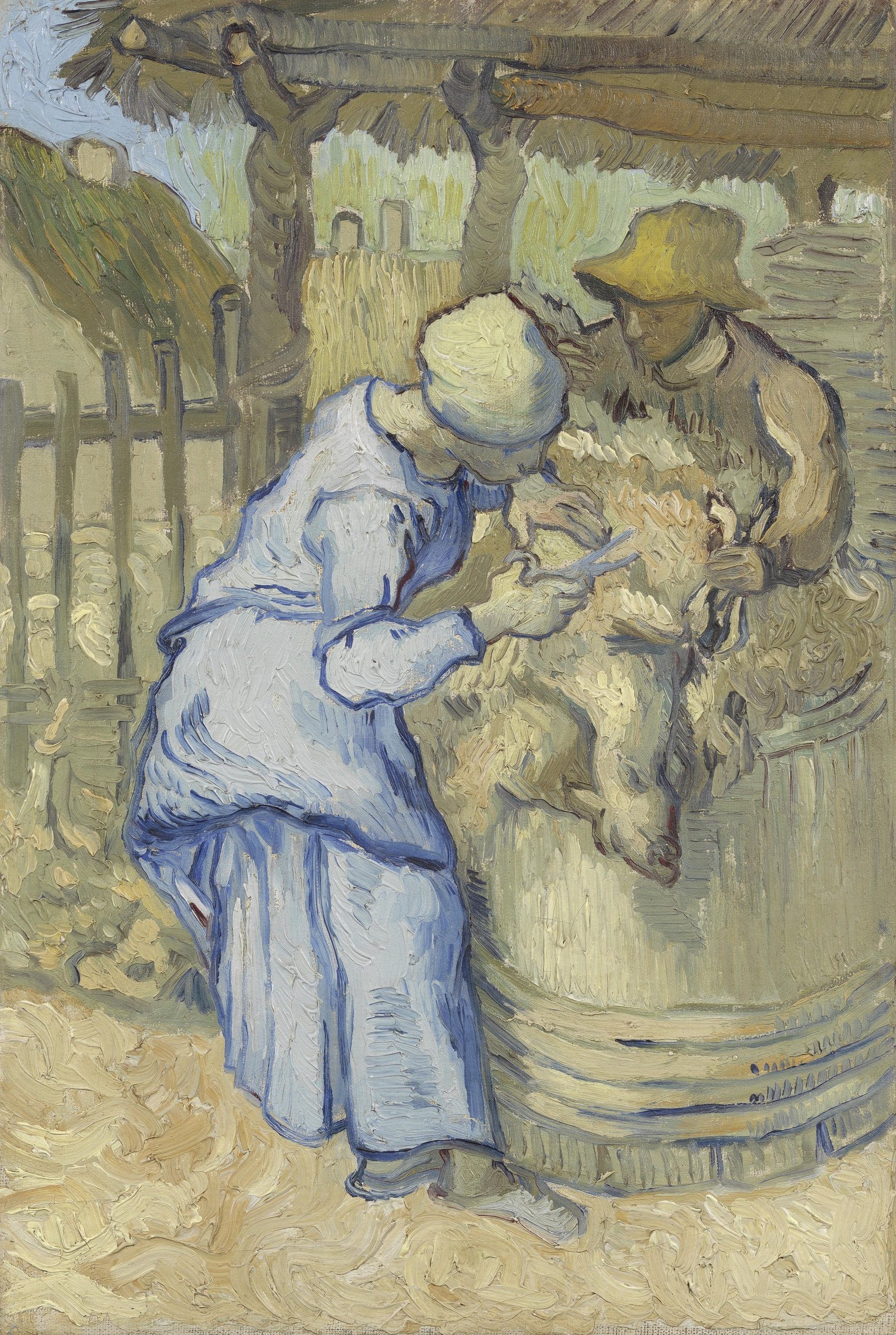 The Sheep-Shearers after Jean-Francois Millet 1889