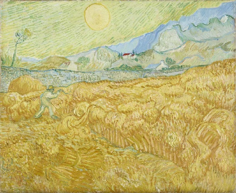 Vincent Van Gogh Wheat Field Behind Saint Paul Hospital