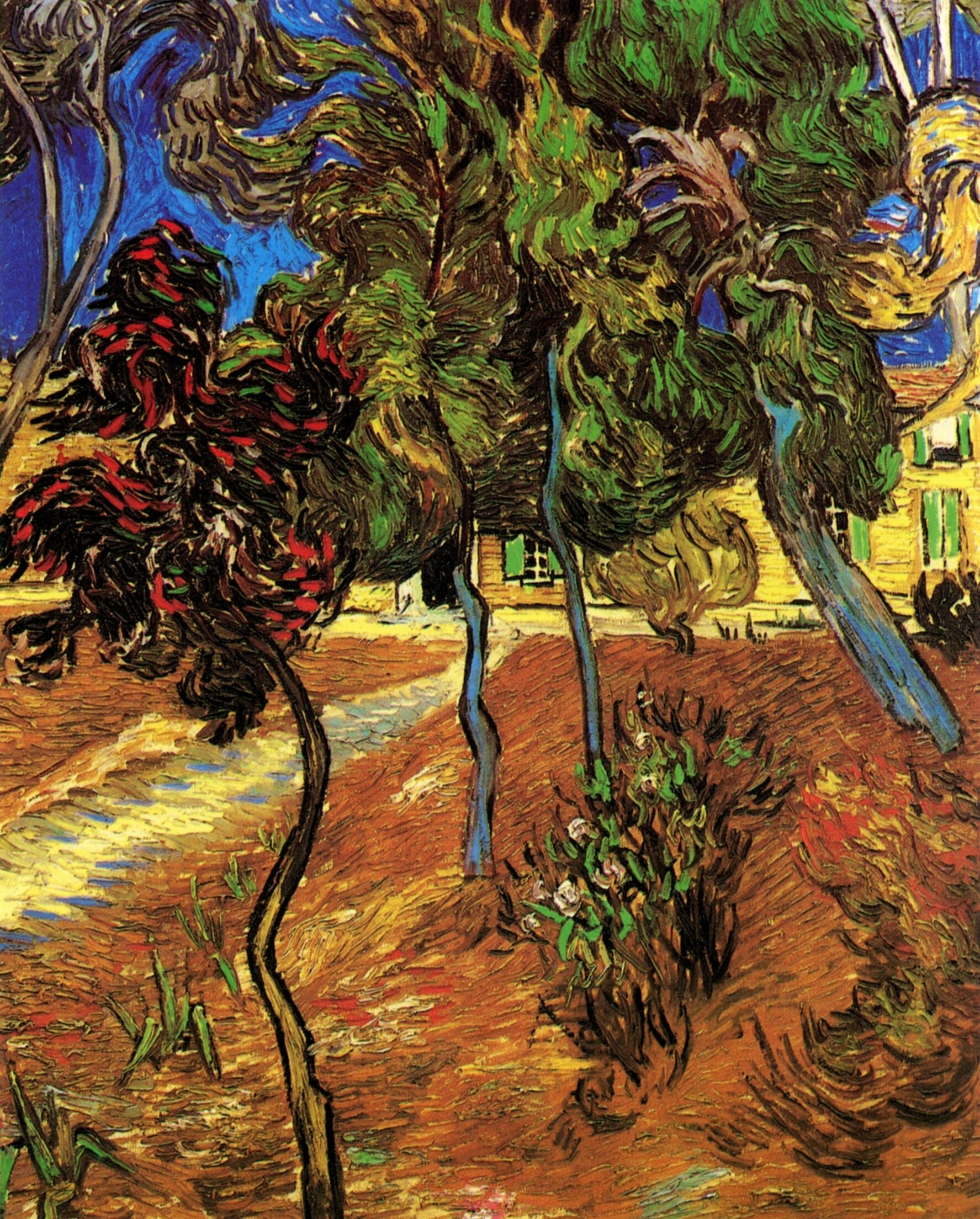 Trees in the Garden of Saint-Paul Hospital 1889