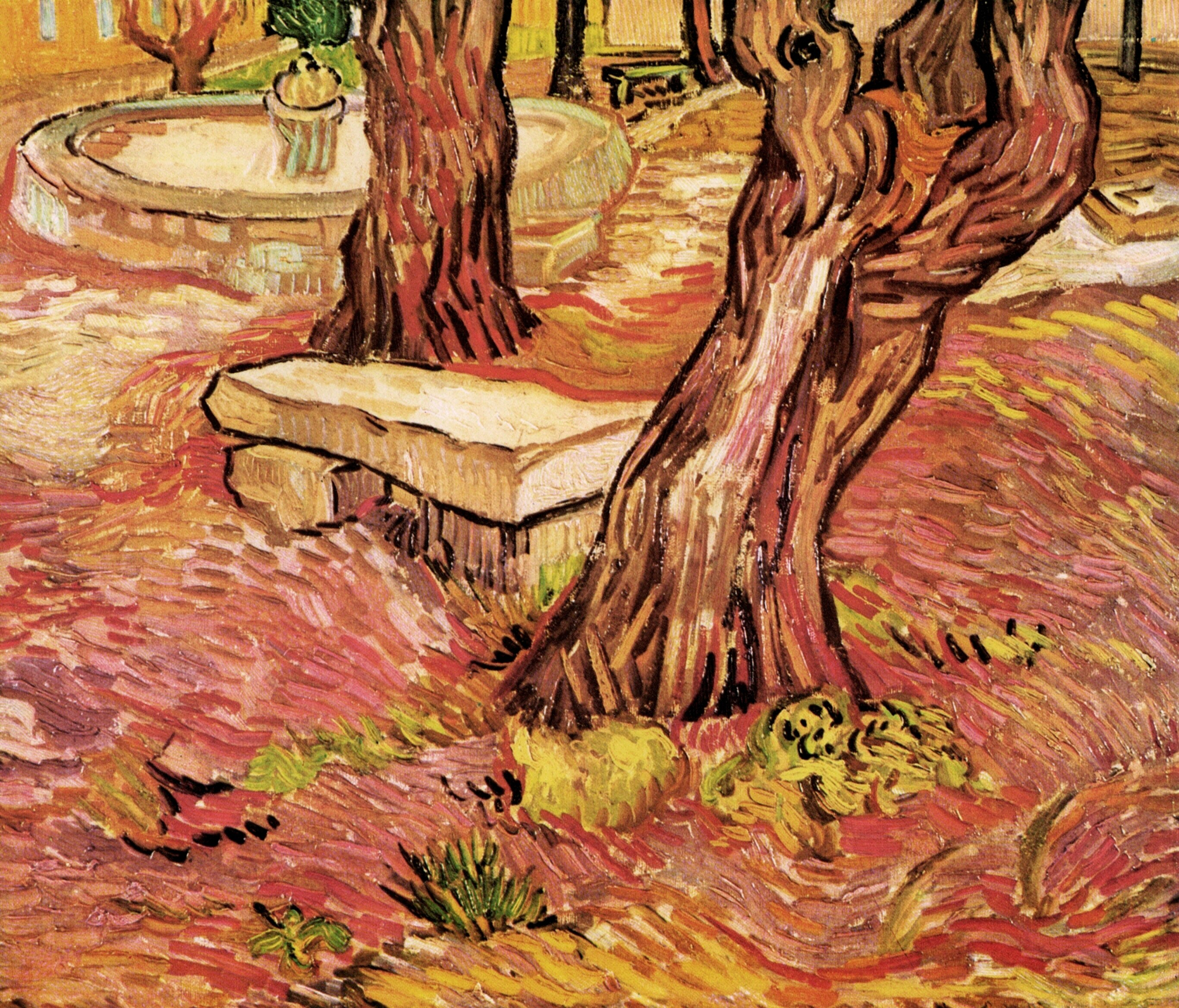 The Stone Bench in the Garden of Saint-Paul Hospital 1889