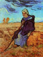 Shepherdess, The after Millet