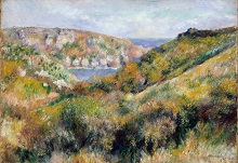 Hills around Moulin Huet Bay, Guernsey 1883 46x65cm oilcanvas The Metropolitan Museum of Art, New York
