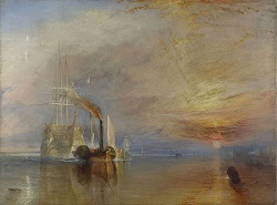 The Fighting Temeraire tugged to her last berth to be broken up 1839