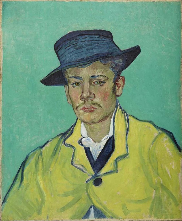 Image result for van gogh    Van Gogh's Portrait of Armand Roulin (1888, Museum Folkwang, Essen),